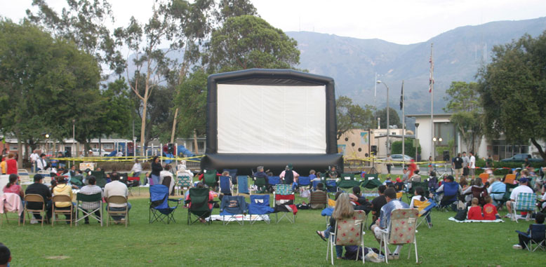 Inflatable Movie Screen Rental - Michigan Area- Funny Business Agency