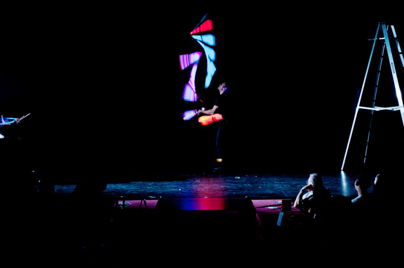 Corporate Juggler Entertainment by Jeff Civillico who juggles neon lit bowling pins.