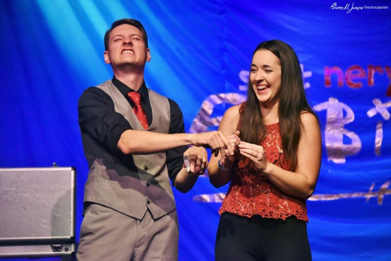 Corporate Magician - Nick Paul Onstage - Funny Business Agency