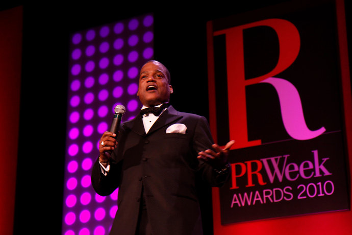 Ralph Harris performing at a corporate event