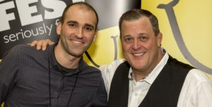 Jamison Yoder and Billy Gardell at Gilda's LaughFest