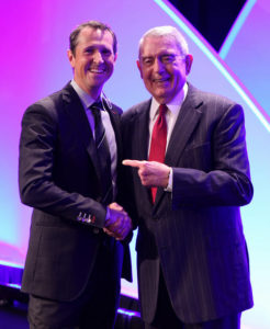 Speaker and Event Host - Jon Petz with Dan Rather - Funny Business Agency