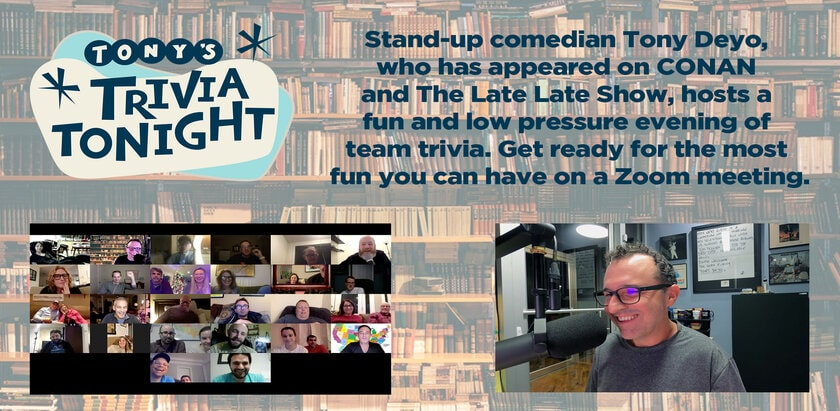 Virtual Trivia with Tony - Online Trivia - Banner - Funny Business Agency